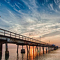 Sunrise At The Pier by Mike Burgquist