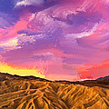 Sunrise At Zabriskie Point by Dominic Piperata