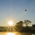 Sunrise Balloon Ride Over Lake Nockamixon by Bill Cannon