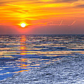 Sunrise Chicago Lake Michigan 3-9-14 by Michael  Bennett