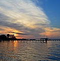 Sunrise Colors With Red Sky At Morning Sailor's Warning by Jeff at JSJ Photography