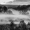 Sunrise Fog Black And White by Thomas R Fletcher