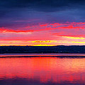 Sunrise In Cayuga Lake Ithaca New York Panoramic Photography by Paul Ge