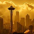 Sunrise In Seattle by Bob Stevens