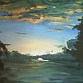 Sunrise  In Tanon Strait by Richard John Holden RA