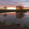 Sunrise Lenton Fishing Pond by Nick Atkin