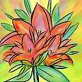 Sunrise Lily by Christine Fournier