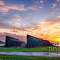Sunrise Lindisfarne Hdr by Tim Gainey