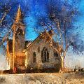 Sunrise On A Rural Church 12 by Thomas Woolworth