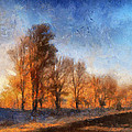 Sunrise On A Rural Country Road Photo Art 02 by Thomas Woolworth