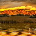 Sunrise On Little Redfish Lake by Robert Bales