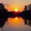Sunrise On The Pond by Jean Wright