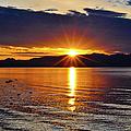 Sunrise On Yellowstone Lake by Greg Norrell
