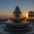 Sunrise Over Downtown Charleston  by Dale Powell