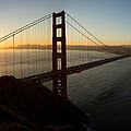Sunrise Over Golden Gate Bridge And San Francisco Bay by Jit Lim
