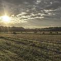 Sunrise Over Hayrolls by Jason Politte