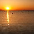 Sunrise Over Lake Michigan by Semmick Photo