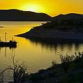 Sunrise Over Lake Pleasant by George Davidson