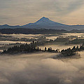Sunrise Over Mount Hood And Sandy River by Jit Lim