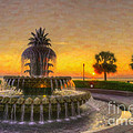 Sunrise Over Pinapple Fountain by Dale Powell