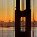 Sunrise Over San Francisco Bay Through Golden Gate Bridge by Jit Lim