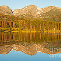 Sunrise Over Sprague Lake In Rocky Mountain National Park by Fred Stearns