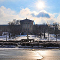 Sunrise Over The Art Museum In Winter by Bill Cannon