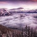 Sunrise Over The Canadian Rockies by Diane Dugas
