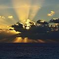 Sunrise Over The Carribean Sea by Walt Sterneman