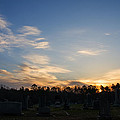 Sunrise Over The Cemetary by Chris Flees