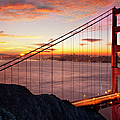 Sunrise Over The Golden Gate Bridge by Brian Jannsen