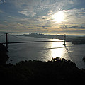 Sunrise Over The Golden Gate by Debra Wales