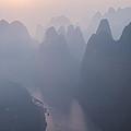Sunrise Over The Karst Peaks - China by Matteo Colombo