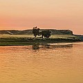 Sunrise Over The Missouri Breaks by Larry Bodinson
