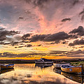 Sunrise Over The Old Salmon Boats by Dave Wilkinson