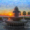 Sunrise Over The Pineapple by Dale Powell