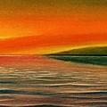 Sunrise Over The Sea by Christian Simonian