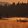 Sunrise Over The Yellowstone River by Bruce Gourley