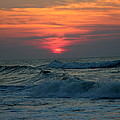 Sunrise Over Waves by Rand Wall