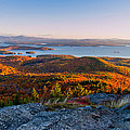 Sunrise Over Winnipesaukee. by Jeff Sinon