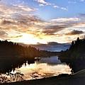 Sunrise River Mirror by Susan Garren
