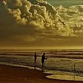 Sunrise Surf Fishing by Ed Sweeney