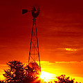 Sunrise Windmill 1 A by John Brueske