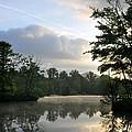Sunrise With A Jet Trail by Kay Lovingood