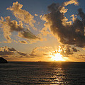 Sunrise With Clouds St. Martin by Susan Savad