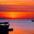 Sunset @ Galveston Bay by Trisha Anderson