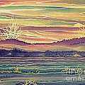 Sunset Across The River by Lorita Montgomery
