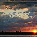 Sunset After A Thunderstorm Photoart by Debbie Portwood