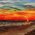 Sunset After Sandy by Annie St Martin