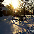 Sunset After The Snow Storm by Luther Fine Art